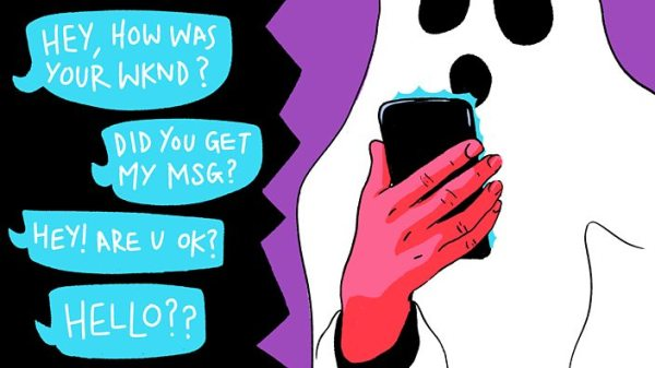 Ghosts appearing on modern dating app